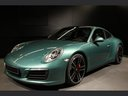 Rent-a-car Porsche 911 991 4S Racinggreen Individual Sport Chrono with its delivery to Rome-Ciampino airport, photo 1