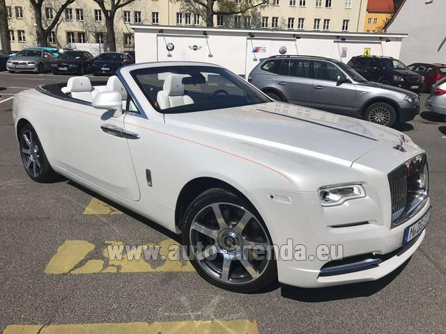 Rental Rolls-Royce Dawn (White) in Positano