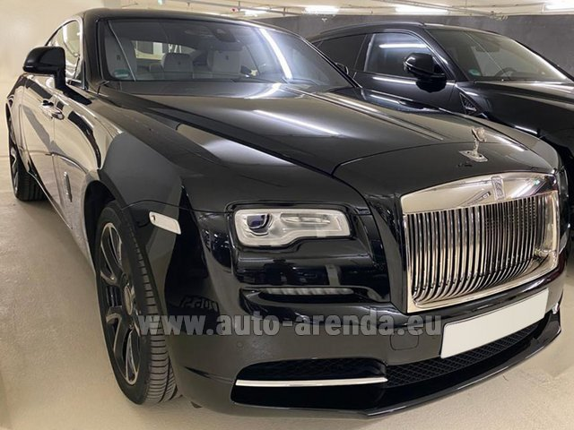 Hire and delivery to Venice airport the car Rolls-Royce Wraith