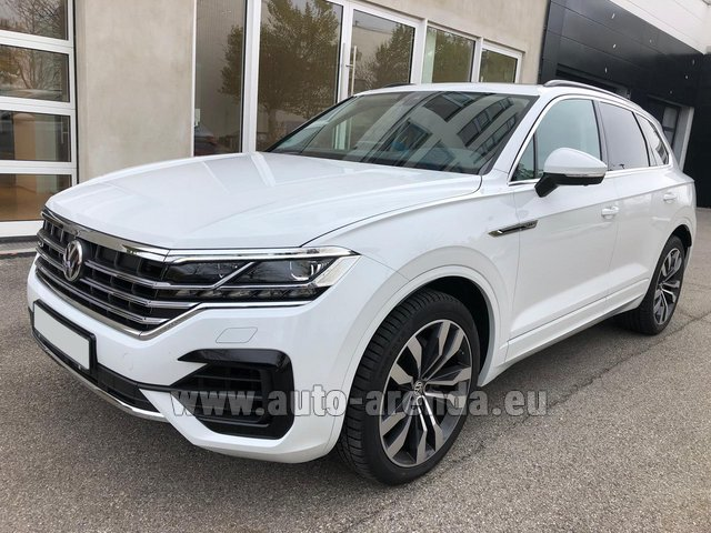 Hire and delivery to Rimini airport the car Volkswagen Touareg 3.0 TDI R-Line